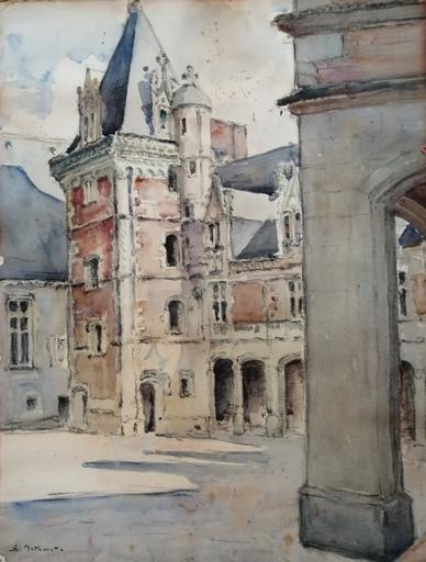 Charles MATHONAT - 水彩作品 - Le Chateau de Blois