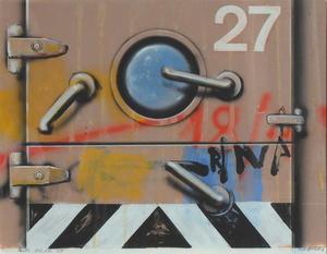 Peter KLASEN - 水彩作品 - Porte blindée 27