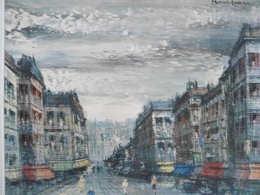Marcel LAREAU - Peinture - Boulevard Parisien