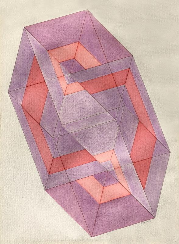 Ronald ABRAM - 水彩作品 - Composition abstraite