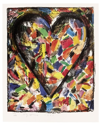 Jim DINE - Estampe-Multiple - Confetti Heart 1