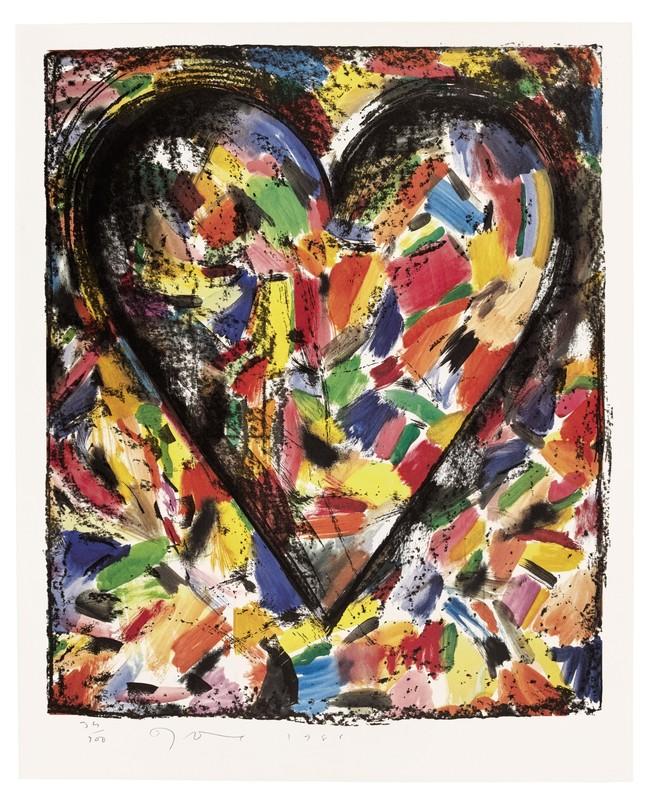 Jim DINE - Stampa Multiplo - Confetti Heart 1