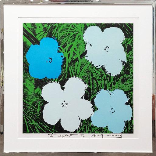 Andy WARHOL - Print-Multiple - Flowers blue