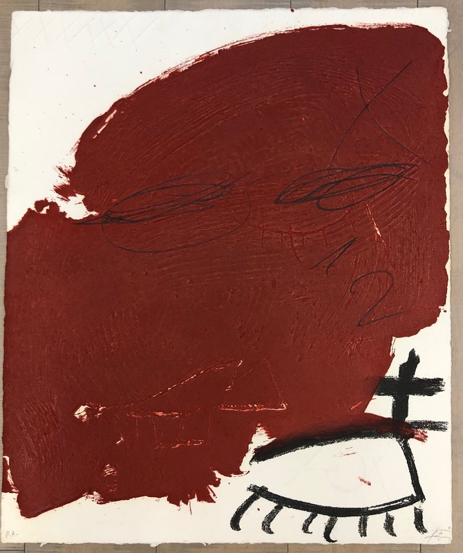 Antoni TAPIES - Estampe-Multiple - Taca rogenca