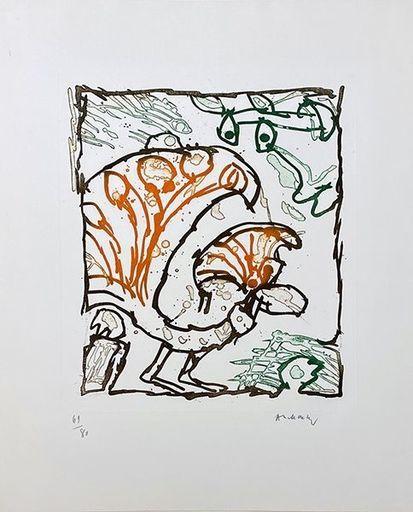 Pierre ALECHINSKY - Grabado - paon