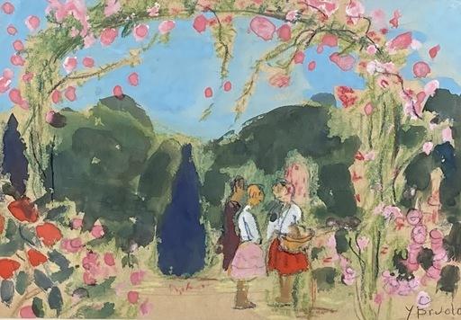 Yvonne BRUDO - Drawing-Watercolor - Au jardin