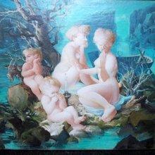 Jean MABLORD - Painting - Femmes et Enfants