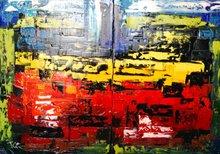 Serge Louis TUQUET - Pintura - 643a-b (diptyque)