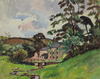 Ludovic Rodo PISSARRO - Drawing-Watercolor - Paysage Normand, Port en Bessin
