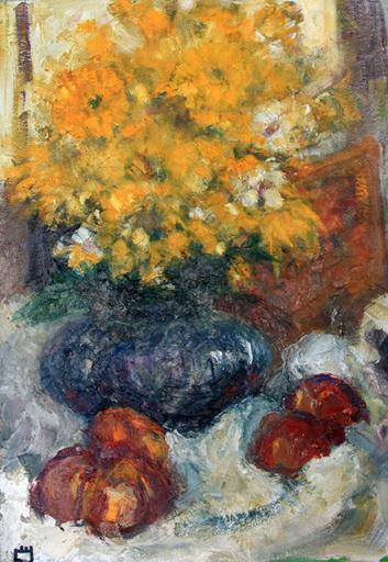 Levan URUSHADZE - Pittura - Still life with yellow flowers