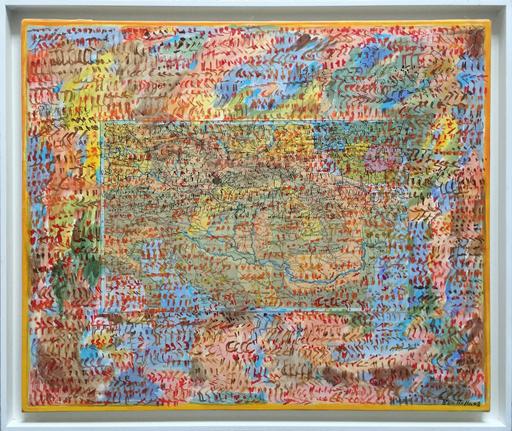 Mahjoub BEN BELLA - Pintura - Carte géographique II
