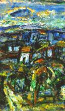 Auguste DUREL - Painting - paysage de Provence (N° 5)