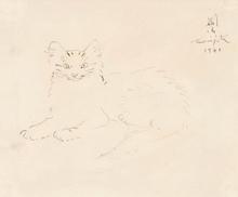 藤田嗣治 - 水彩作品 - Cat