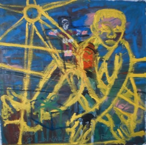 Bernard MOREL - Painting - FEU ROUGE