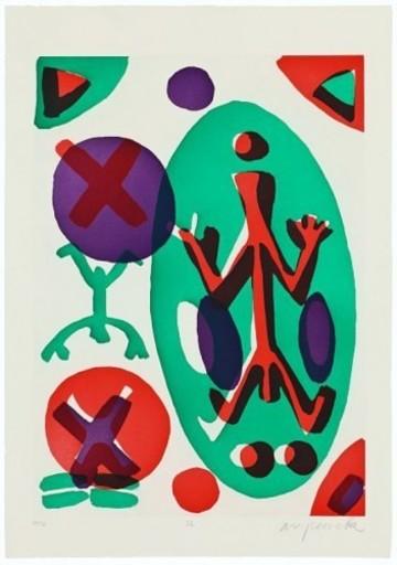 A.R. PENCK - Print-Multiple - Serie II Ich