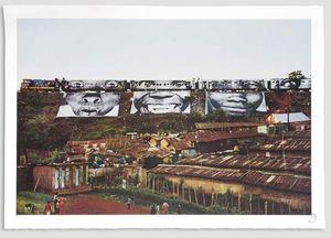 JR - Grabado - KENYA : un train  trois femmes