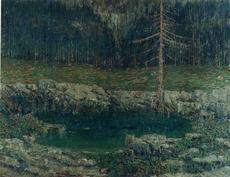Guido CINOTTI - Pintura - Lago delle Dolomiti
