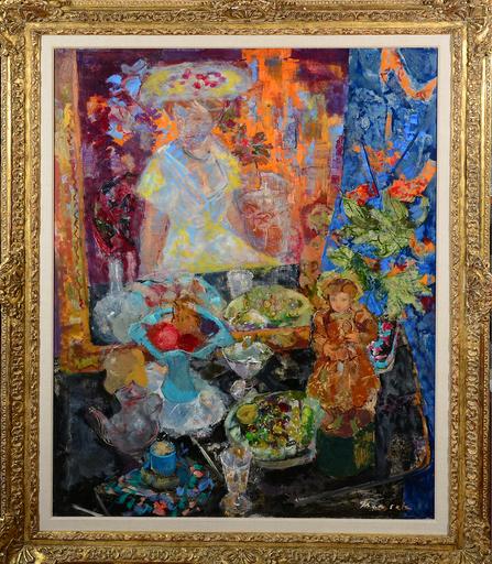 Emilio GRAU-SALA - Painting - interior con figuras