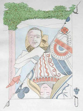 MAN RAY - Print-Multiple - Dame de Trefle I