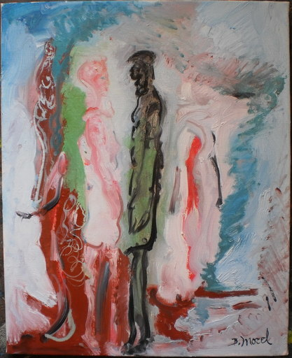Bernard MOREL - Peinture - COUPLE