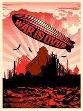 """Shepard FAIREY - Grabado - """"War is over"""""""
