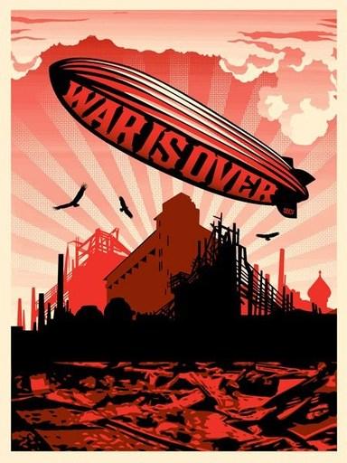 """Shepard FAIREY - Estampe-Multiple - """"War is over"""""""