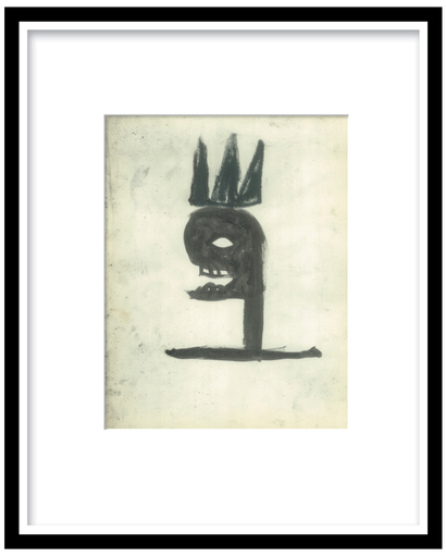 Jean-Michel BASQUIAT - Dibujo Acuarela - crown