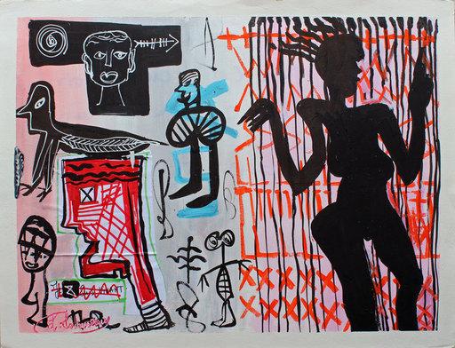 Lionel SOURISSEAU - 绘画 - Sur ton corps dans l'ombre je suis comme une lampe