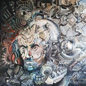 Eric HUBBES - Painting - Der Gelehrte