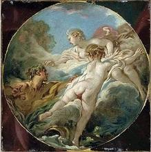 François BOUCHER (1703-1770) - Alphée et Aréthuse + Pan et Syrinx