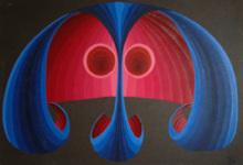 Steven KLUCHIK - Painting - Double Face