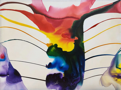 Paul JENKINS - Peinture - Phenomena Spectrum Guardian