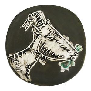 Pablo PICASSO - Céramique - Tête de chèvre de profil