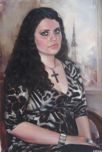 Nikas SAFRONOV - Painting - Portrait of Lelde