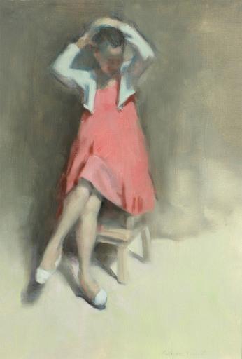 Antoine VINCENT - Gemälde - Portrait de jeune fille