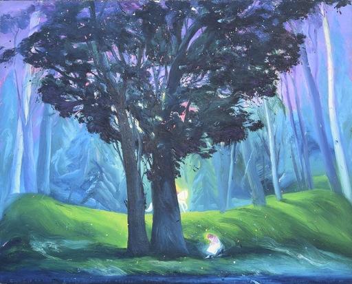 Pino DEODATO - Pintura - Giunse su un cavallo bianco il principe azzurro e conquista