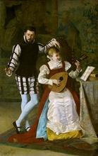 Vicente CAMPESINO Y MINGO - Pintura - Escena musical
