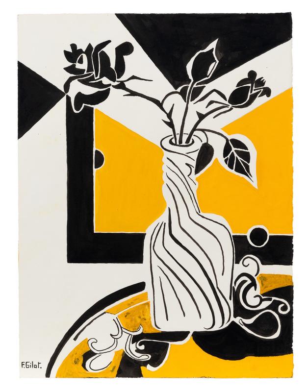 Françoise GILOT - Dessin-Aquarelle - Yellow Rose