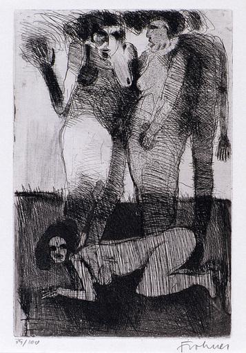Adolf FROHNER - Print-Multiple - Damen in Badeanzug