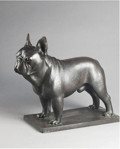 Armand PETERSEN - Sculpture-Volume - Dady, Bouledogue français