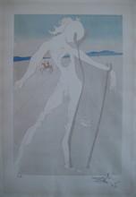 萨尔瓦多·达利 - 版画 - GRAVURE 1973 SIGNÉE AU CRAYON EA ML638 HANDSIGNED EA ETCHING