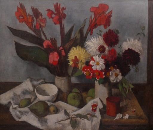 Josef PIEPER - Pintura - Stilleben mit Früchten