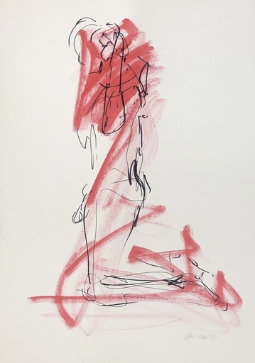 Nicole LEIDENFROST - Zeichnung Aquarell - Aktstudie DIN A2 Nr 8