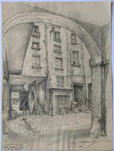 Andor SZÉKELY VON DOBA - Drawing-Watercolor - LOGIS ROMANTIQUES 8 : Maison de Berlioz