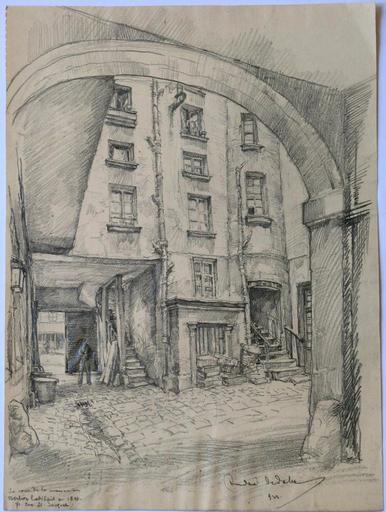 Andor SZÉKELY VON DOBA - Dibujo Acuarela - LOGIS ROMANTIQUES 8 : Maison de Berlioz
