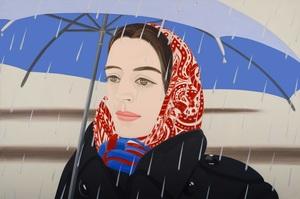 Alex KATZ - Grabado - Blue Umbrella 2