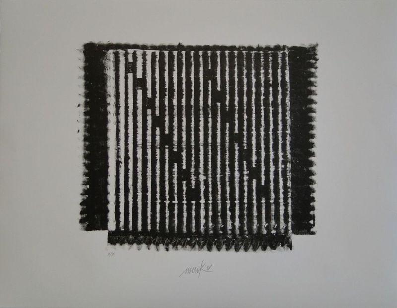 Heinz MACK - Grabado - Lithografie No 8