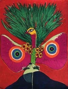 CORNEILLE - Print-Multiple - L'oiseau papillon