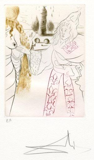 萨尔瓦多·达利 - 版画 - GRAVURE SIGNÉE CRAYON ANNOTÉE EA ML557 HANDSIGNED ETCHING