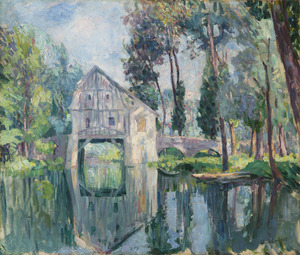 Henri Baptiste LEBASQUE - Pintura - Le moulin (probablement vers Compiègne)